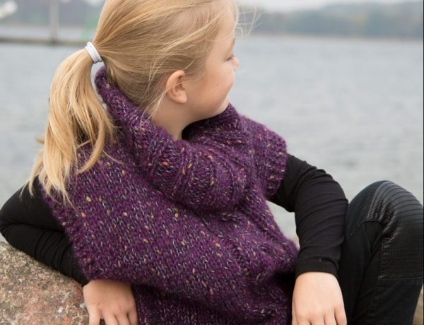 Putte Poncho Deluxe – Smuk tweed Poncho til børn
